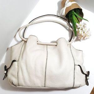 Apostrophe Leather White Bag